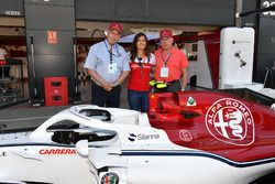 Tatiana Calderon, Sauber Test Driver with Oscar Fangio, and Ruben Fangio,