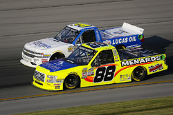 Matt Crafton, ThorSport Racing, Ford F-150 Rip It/ Menards and Jordan Anderson, Jordan Anderson Racing, Chevrolet Silverado Bommarito Automotive Group
