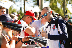 Robert Kubica, Williams Martini Racing, firma autógrafos