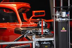 Ferrari SF71H : vue détaillée du museau
