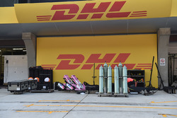 Force India VJM11 freight Freight in pit lane