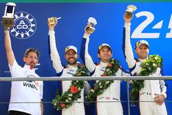 LMGTE Pro podium: second place Richard Lietz, Gianmaria Bruni, Frédéric Makowiecki, Porsche GT Team
