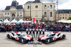 #7 Toyota Gazoo Racing Toyota TS050: Mike Conway, Kamui Kobayashi, Jose Maria Lopez, #8 Toyota Gazoo Racing Toyota TS050: Sébastien Buemi, Kazuki Nakajima, Fernando Alonso