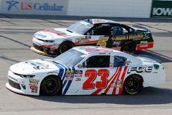 Justin Haley, GMS Racing, Chevrolet Camaro FOE and Michael Annett, JR Motorsports, Chevrolet Camaro Northland Oil
