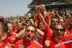 Ducati Marlboro Team celebrate Loris Capirossi's win