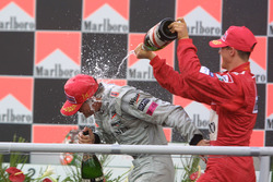 1. David Coulthard, McLaren; 2. Michael Schumacher, Ferrari