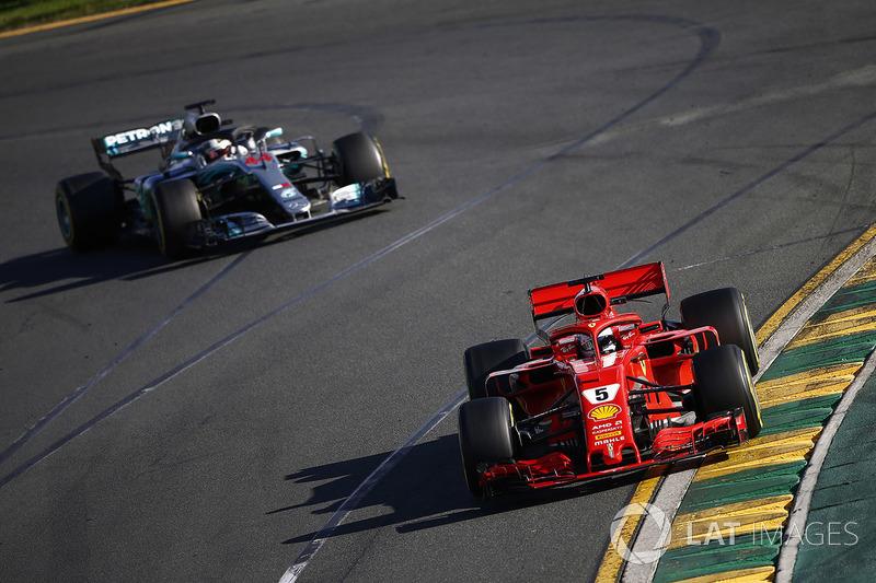 Hamilton reageerde verward toen Vettel hem voorbleef na de stop