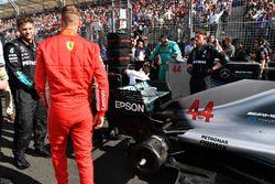 Sebastian Vettel, Ferrari ve el coche de Lewis Hamilton, Mercedes-AMG F1 W09 EQ Power+