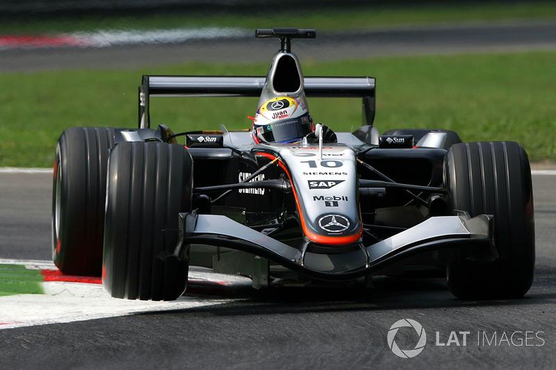 8º Juan Pablo Montoya, McLaren Mercedes MP4/20; Monza 2005: 257,295 km/h