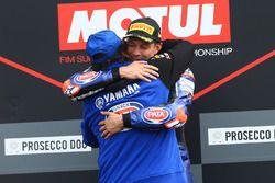 Podio: il vincitore della gara Michael van der Mark, Pata Yamaha