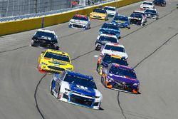 Alex Bowman, Hendrick Motorsports, Chevrolet Camaro Nationwide and Denny Hamlin, Joe Gibbs Racing, T