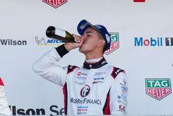 Podium: race winner Jaxon Evans
