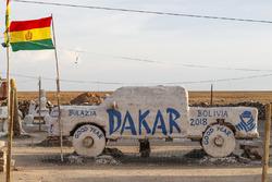 Car made of salt in Uyuni