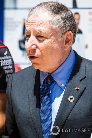 Jean Todd bij de FIA e-Village stand, met Jose Maria Lopez, Dragon Racing. & Lucas di Grassi, Audi S