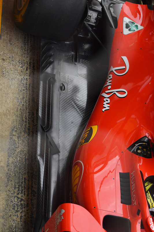 Ferrari SF71H rear floor