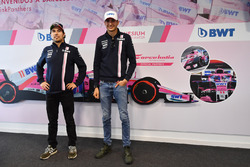 Sergio Perez, Force India and Esteban Ocon, Force India F1 at a BWT event