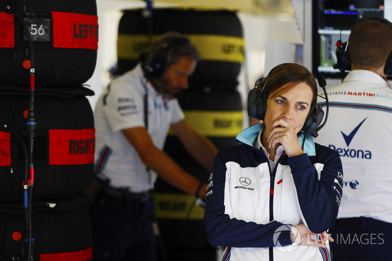 Claire Williams, Deputy Team Principal, Williams Martini Racing