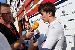 Charles Leclerc, Sauber con los medios