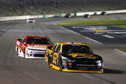 Brendan Gaughan, Richard Childress Racing Chevrolet and Michael Annett, JR Motorsports Chevrolet