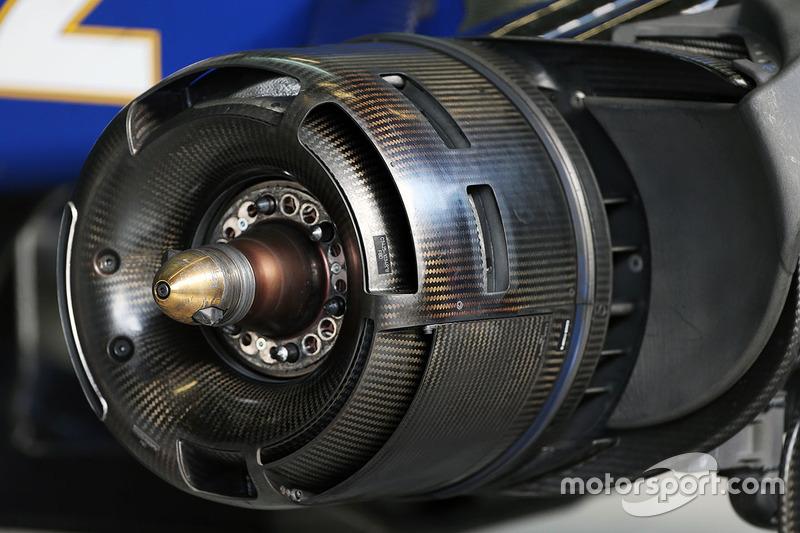 Detalle de freno de Sauber C34