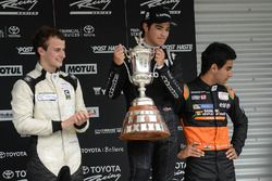 Podium: winner Pedro Piquet, second place James Munro, third place Jehan Daruvala