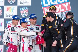 Podium: second place Rick Kelly, Katsumasa Chiyo, Florian Strauss, Nissan Motorsports