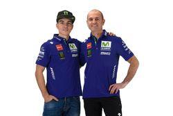 Massimo Meregalli, directeur de l'équipe Yamaha Factory Racing, Maverick Viñales, Yamaha Factory Racing