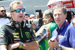 Руководитель Monster Yamaha Tech 3 Эрве Поншараль и гоночный директор Yamaha Factory Racing Лин Джар