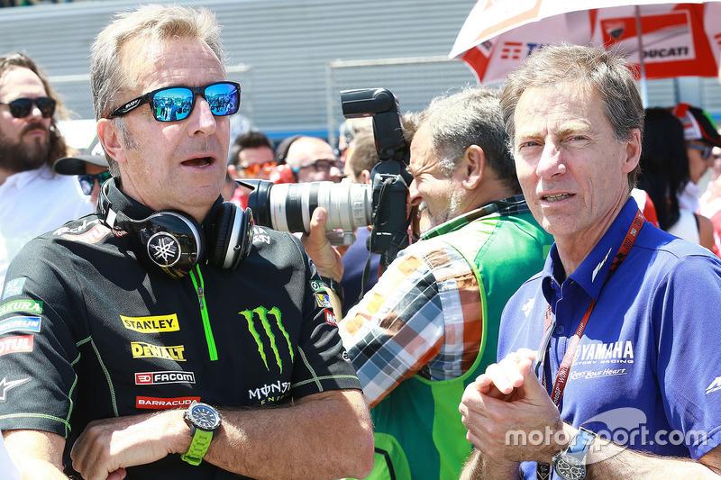 Hervé Poncharal, Team Principal Monster Yamaha Tech 3 dan Lin Jarvis