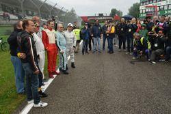 Alcuni piloti Minardi presenti domenica mattina a Imola