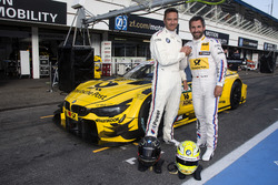 Timo Scheider and Timo Glock, BMW Team RMG, BMW M4 DTM