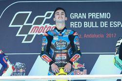 Podium: race winnaar Aron Canet, Estrella Galicia 0,0