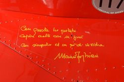 Dedica e autografo di Mauro Forghieri sulla Ferrari 312 B3