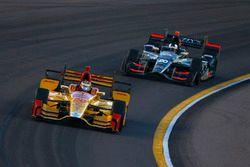Ryan Hunter-Reay, Andretti Autosport Honda, Ed Carpenter, Ed Carpenter Racing Chevrolet