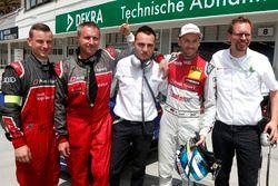 Polesitter René Rast, Audi Sport Team Rosberg, Audi RS 5 DTM with the team