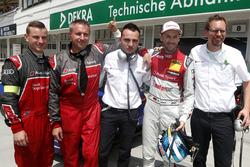 Обладатель поул-позиции Рене Раст, Audi Sport Team Rosberg