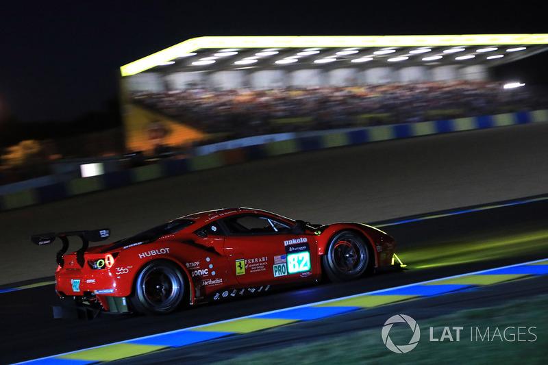 #82 Risi Competizione Ferrari 488 GTE: Toni Vilander, Giancarlo Fisichella, Pierre Kaffer