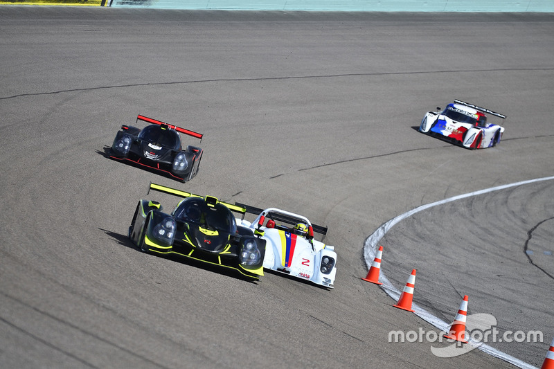 #2 FP1 Radical RPV8 driven by Alex Popow of JC Motorsports, #27 FP1 Ligier LMP3 driven by Guy Cosmo & Patrick Byrne of LMP Motorsports, #121 FP1 Ligier LMP3 driven by Henry Gilbert & Ari Rivera of Classic Car Club Miami