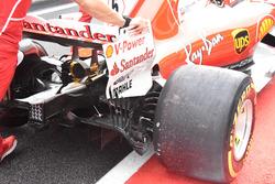 Ferrari SF70H, sfoghi sulla paratia dell'ala posteriore e il diffusore