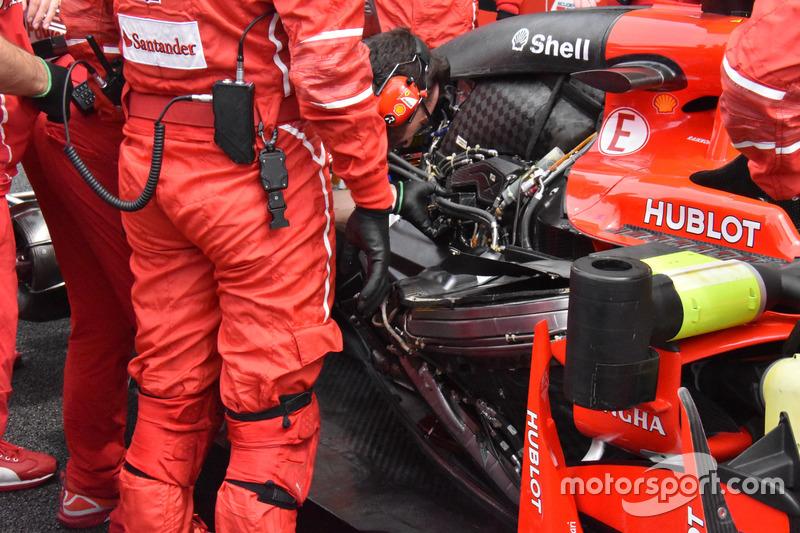 The engine of Kimi Raikkonen, Ferrari SF70H