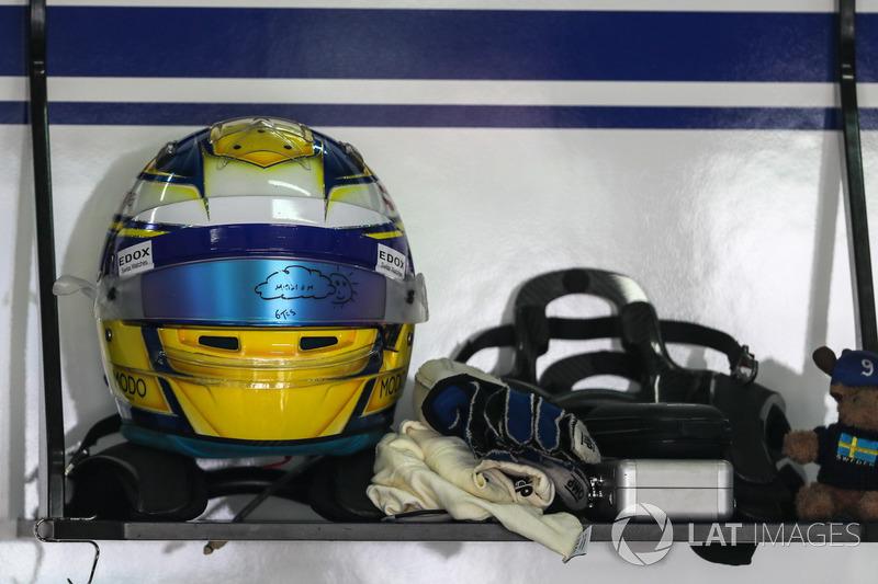 Marcus Ericsson, Sauber kask, yağış vizörü