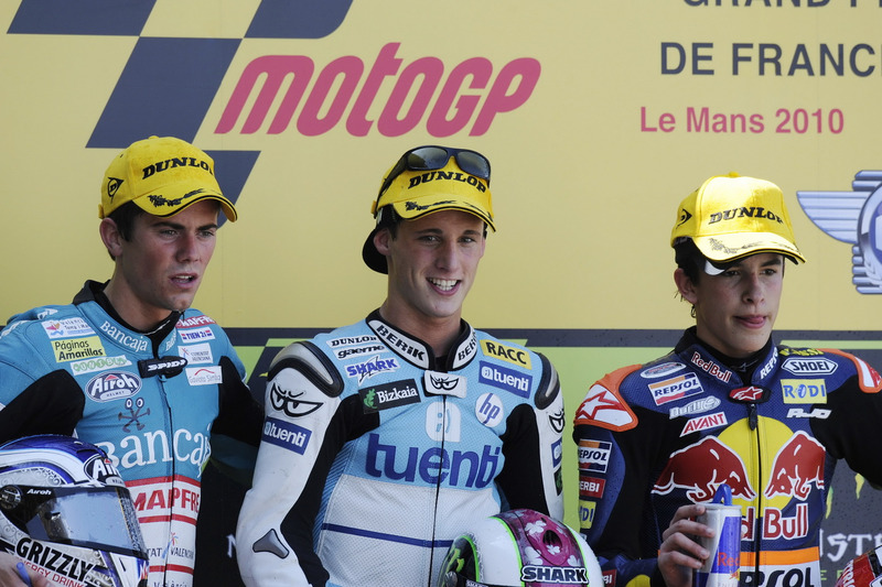 Podio: 1º Pol Espargaró, 2º Nico Terol, 3º Marc Márquez