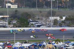 Daniel Hemric, Chevrolet, Erik Jones, Joe Gibbs Racing Toyota, Scott Lagasse Jr., Toyota, Daniel Sua