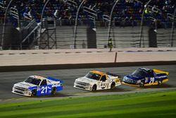 Johnny Sauter, GMS Racing, Chevrolet; Kaz Grala, GMS Racing, Chevrolet; Chase Briscoe, Brad Keselows