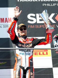 Podium : le deuxième, Chaz Davies, Ducati Team
