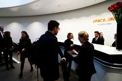 Media and guests are greeted on arrival of the McLaren MCL32 launch
