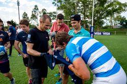 Jugador de Rugby Juan Martín Hernández y Stéphane Sarrazin, Venturi