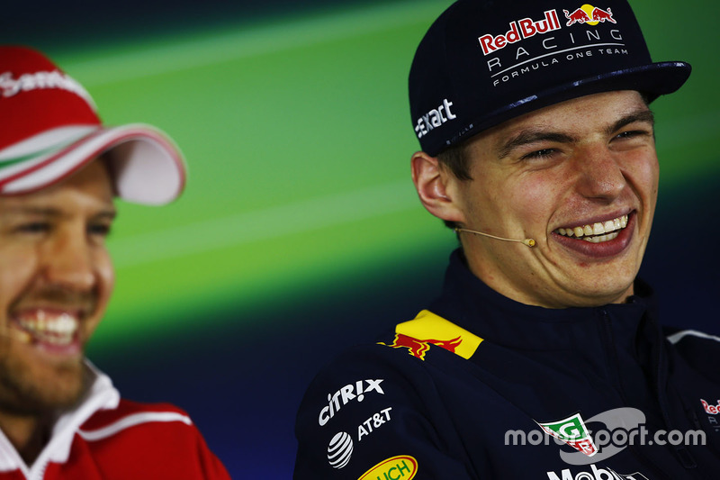 Sebastian Vettel, Ferrari, Max Verstappen, Red Bull