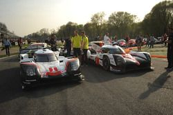 #1 Porsche Team, Porsche 919 Hybrid: Neel Jani, Andre Lotterer, Nick Tandy1; #7 Toyota Gazoo Racing,