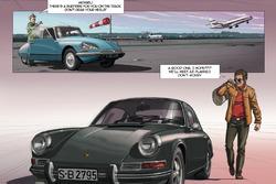 Комикс о Стиве МакКуине в Лe-Мане